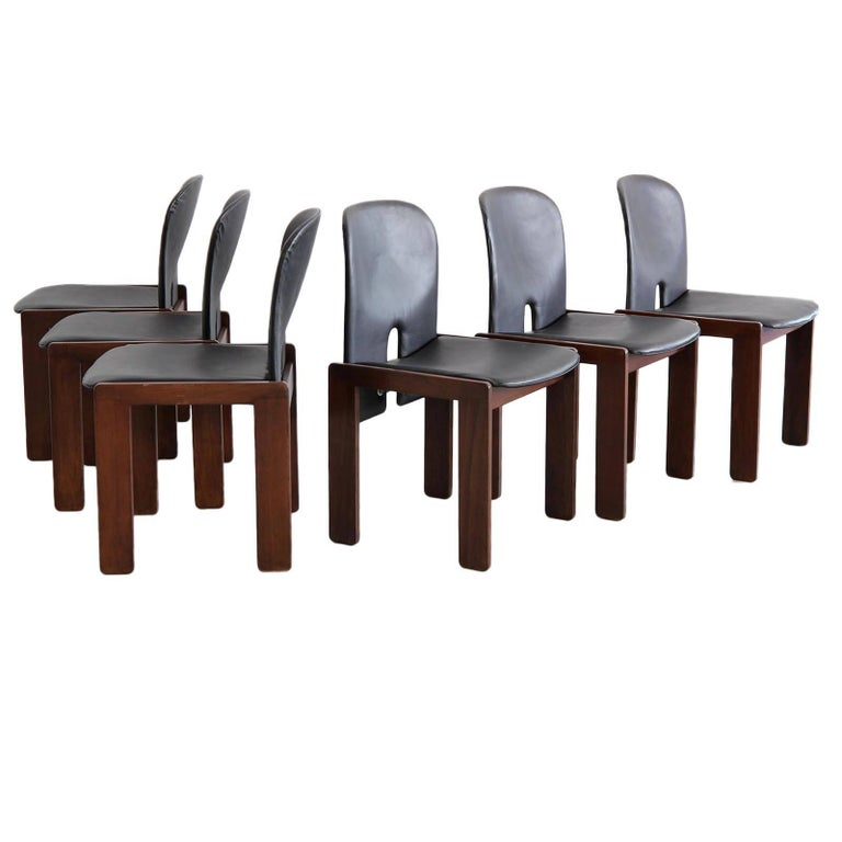 Set of Six Afra & Tobia Scarpa Chairs 1