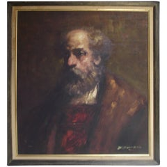 Artist Signed Portrait of a Man
