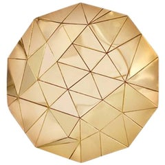 Alex Earl Hotplate Wall Sconce, Brass Wall Light