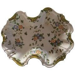 Barber's Shaving Floral Bowl, Italy