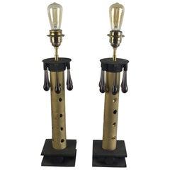 "Pair of Table Lamps ""Fontana"" by Valerio Saltarelli Savi"