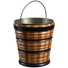 """Early 19th Century Dutch Fruitwood Bucket """"Teestoof"""" or Wastepaper Basket"""