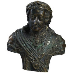 18th Century Bronze Bust of George II