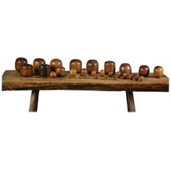 Collection of Lignum Vitae Plumbers Chogs and Bobbins