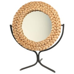 1950s Adrien Audoux and Frida Minet Exclusive Large Rope Mirror