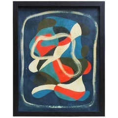 Moritz Friedmann Beautiful Abstract Oil on Panel