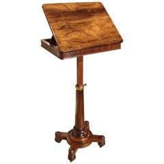 19th Century William IV Rosewood Book Stand