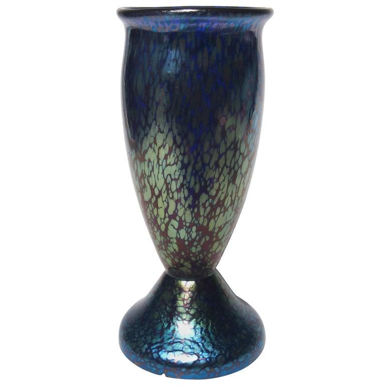 Art Nouveau Cobalt Papillon Vase
