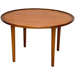 Small Round Danish Teak Coffee or End Table