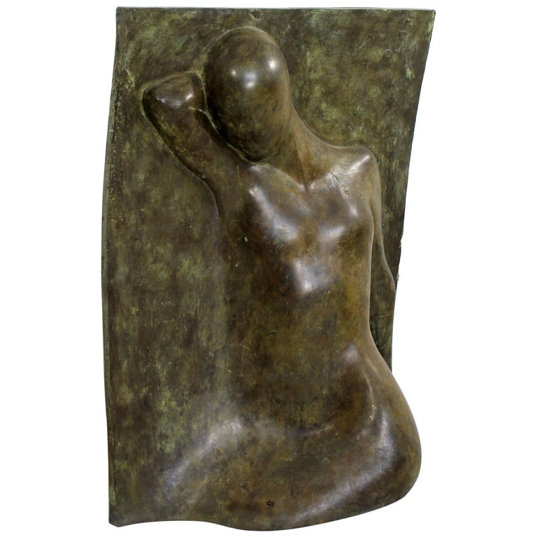 Bronze Relief Sculpture Titled the Panel by Caroline Stacey