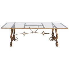 French Glass Coffee Table, France Neoclassical