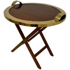 1960s Maria Pergay Belt Tray Table