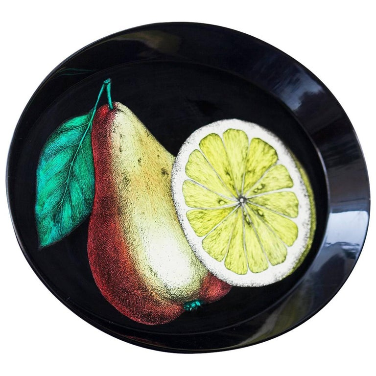 Piero Fornasetti Oval Tray, 1950s For Sale