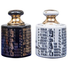 Two Piero Fornasetti Paper Weights, 1950s