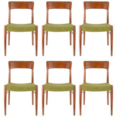 Set of Six Teak Dining Chairs by Niels Otto Møller, Model 77