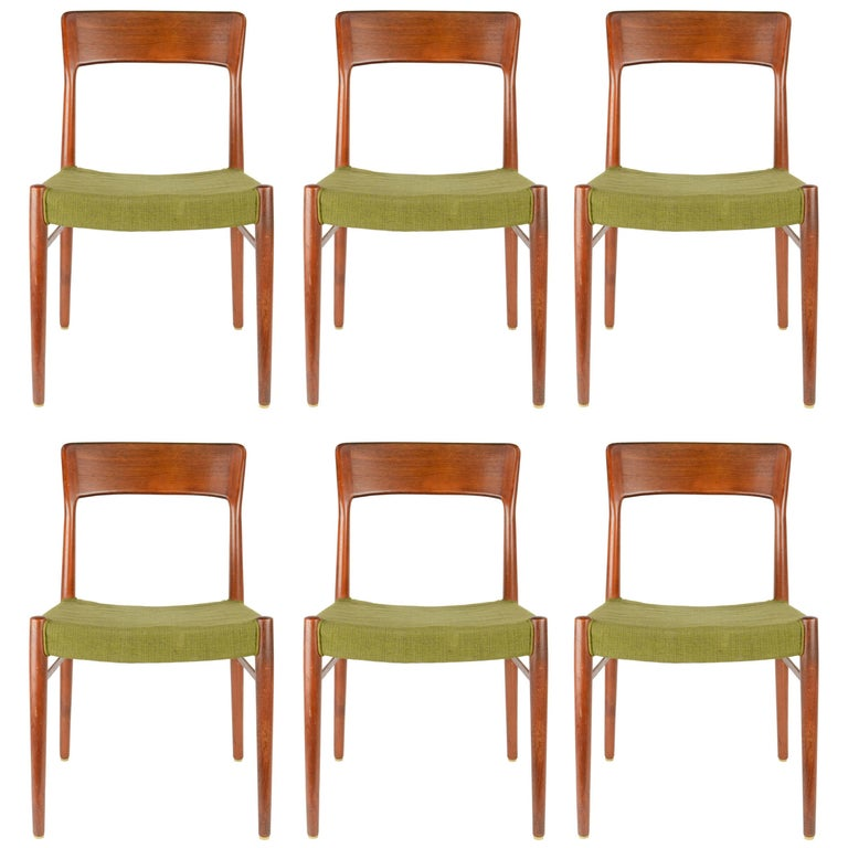 Set of Six Teak Dining Chairs by Niels Otto Møller, Model 77 1