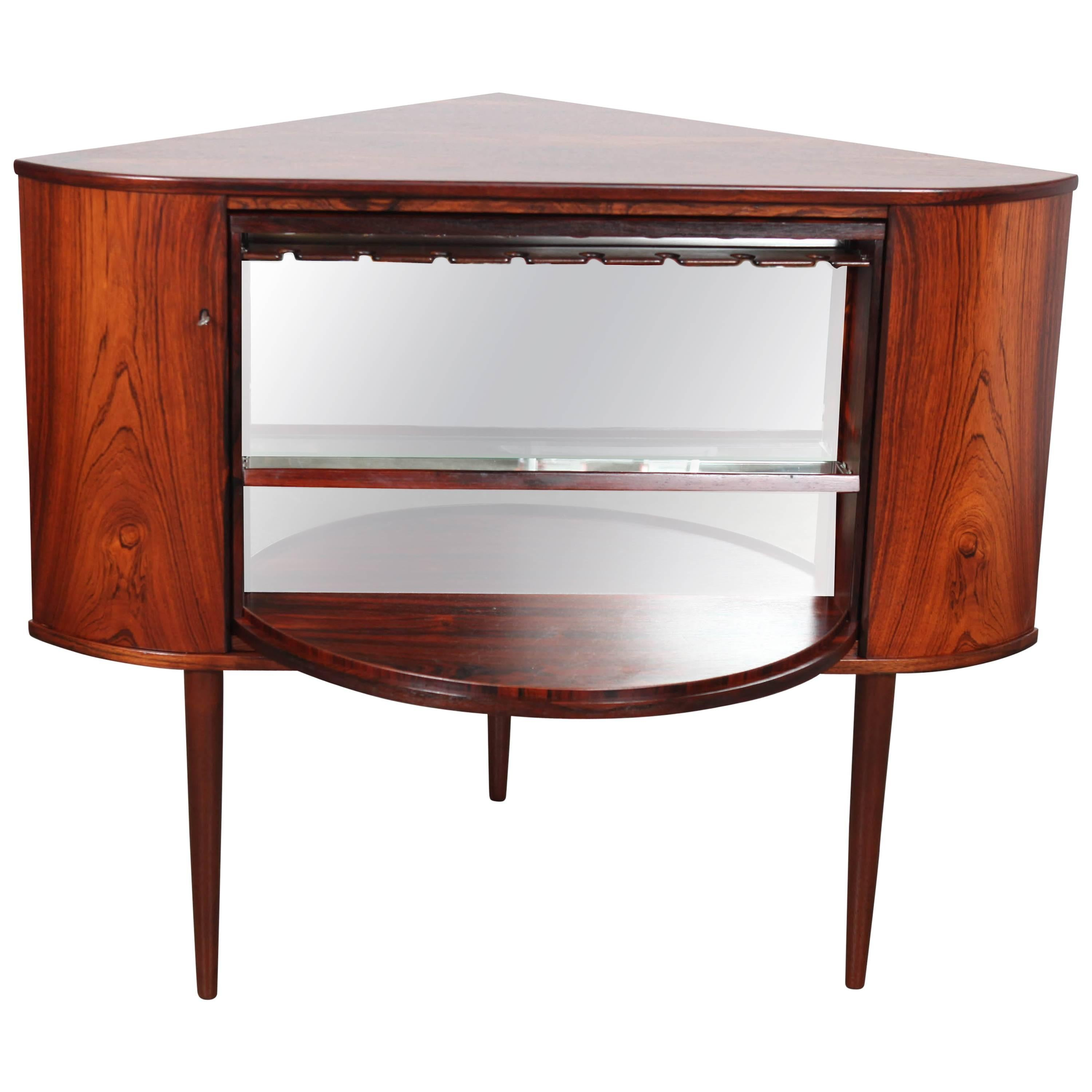Rosewood Corner Bar with Locking Rotating Door Designed by Torbjorn Afdal For Sale  sc 1 st  1stDibs & Rosewood Corner Bar with Locking Rotating Door Designed by ...