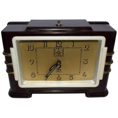 French Art Deco Bakelite Jaz Clock