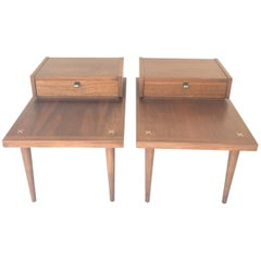 Vintage American of Martinsville End Tables, a Pair