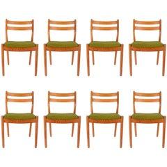 Set of Eight Danish Dining Teak FDB Chairs after Børge Mogensen