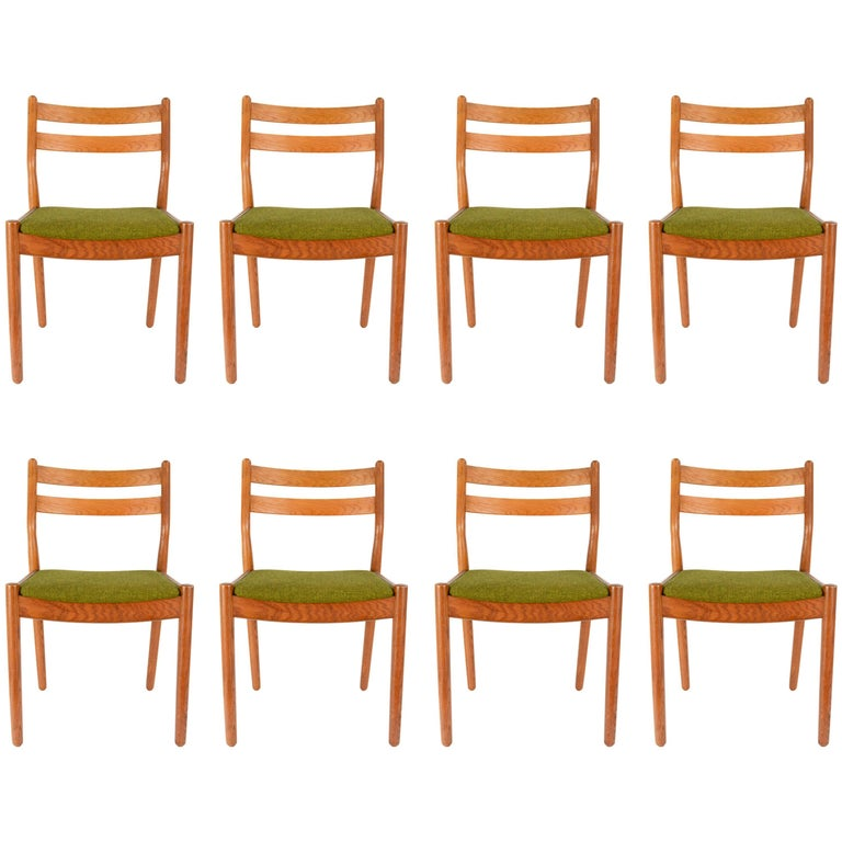 Set of Eight Danish Dining Teak FDB Chairs after Børge Mogensen 1