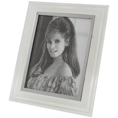 French Hollywood Regency Glass Picture Photo Frame, circa 1940s