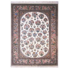 Fine Persian Isfahan All-Over Floral Rug