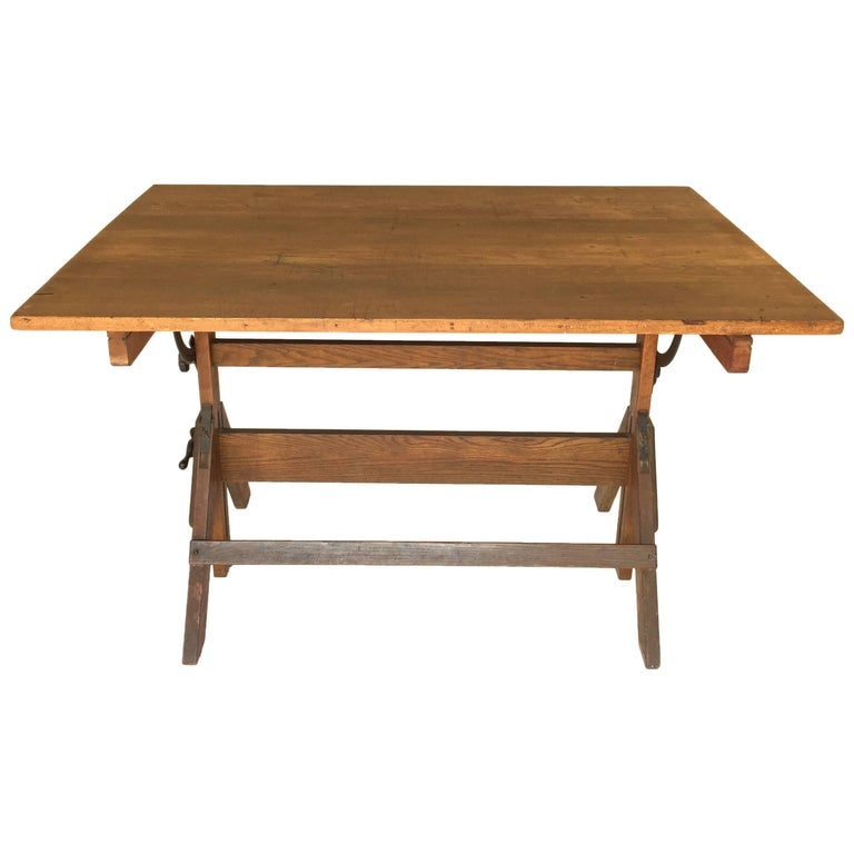 Vintage hamilton drafting table at 1stdibs for I furniture hamilton