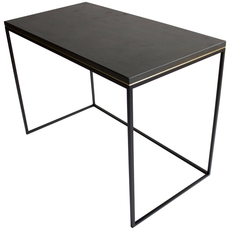 Wilson Modern Minimalist Concrete Writing Desk or Console For Sale