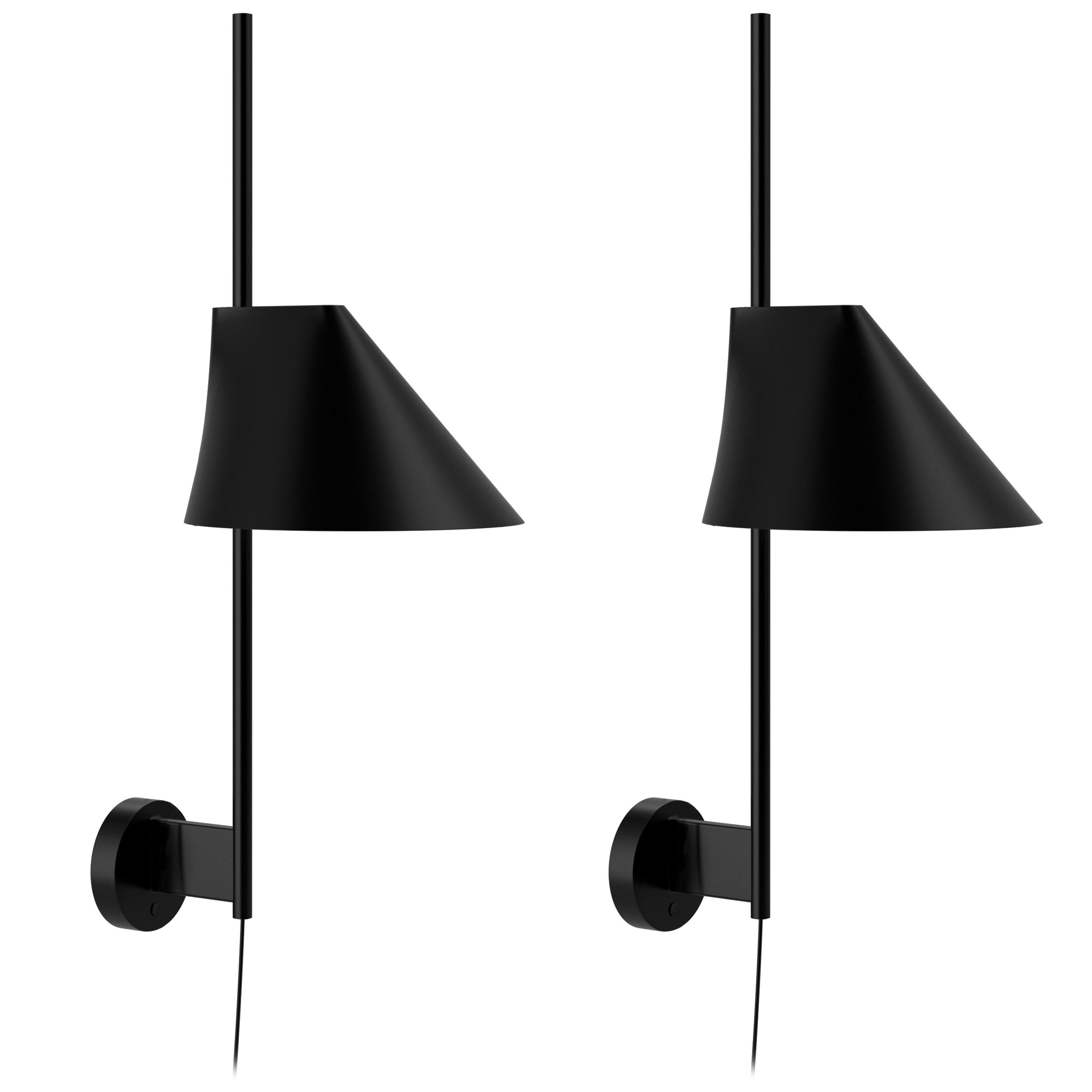 GamFratesi Black 'Yuh' Wall Light for Louis Poulsen