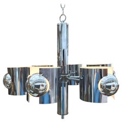 Vintage Sciolari Chrome Chandelier