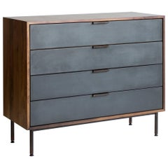 Ira Modern Concrete and Walnut Dresser