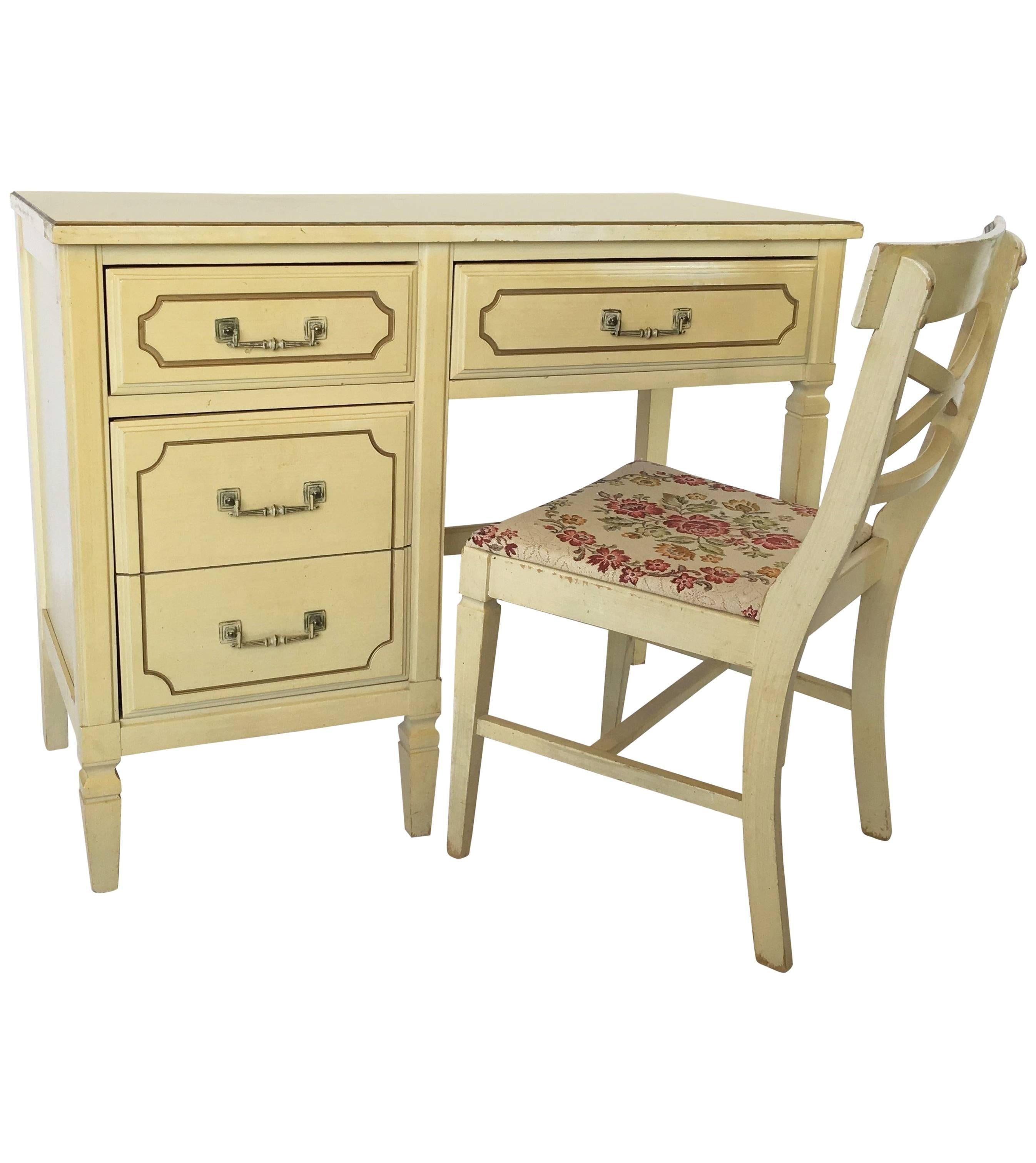 french regency writing desk and chair 1