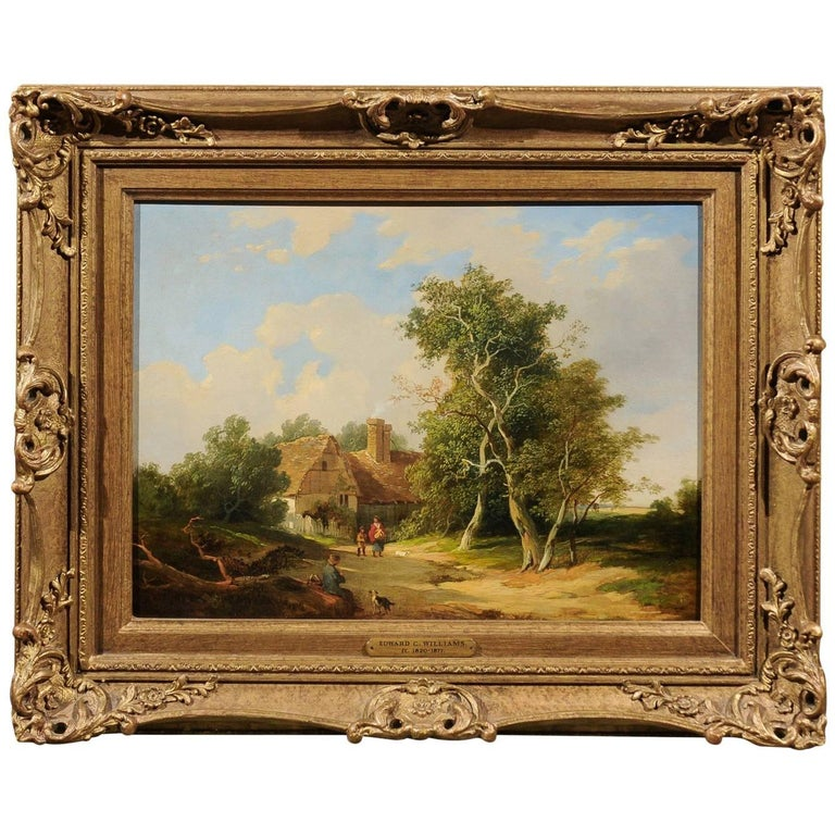 19th Century Landscape Oil Painting by Edward C. Williams