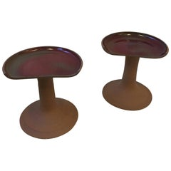 Pair of Studio Ceramic Stools by Brent Bennett