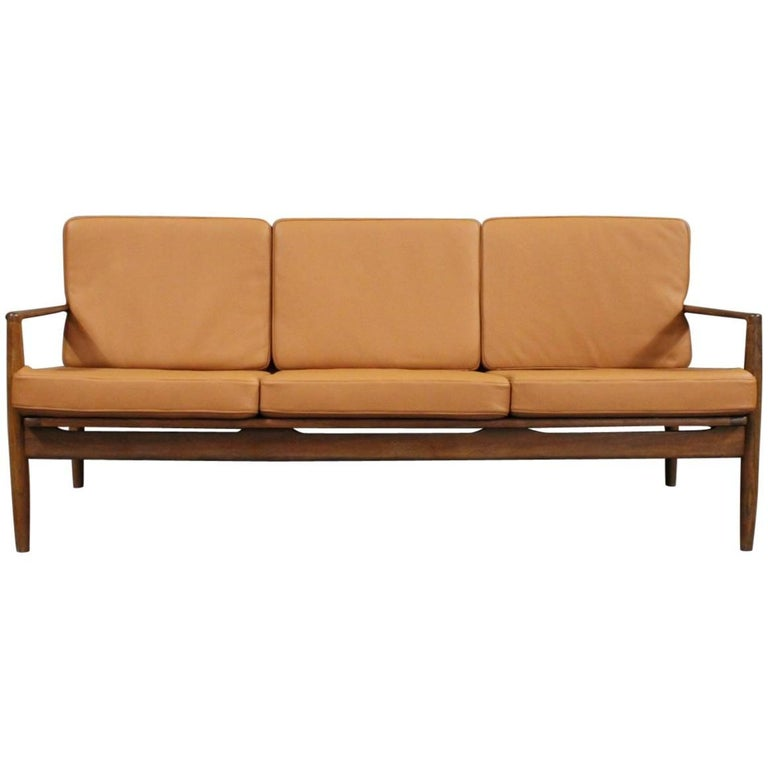 three seat sofa in rosewood of danish design 1960s for sale at 1stdibs. Black Bedroom Furniture Sets. Home Design Ideas