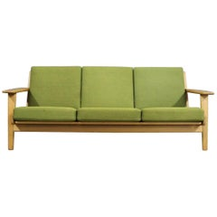 Three-Seat Sofa, Model GE290 in Oak by Hans J. Wegner and GETAMA, 1960s