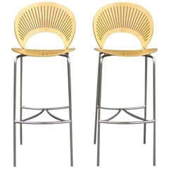 Set of Trinidad Stools in Birch by Nanna Ditzel and Fredericia Furniture