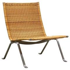 Poul Kjaerholm PK-22 Cane Chair, for E. Kold Christensen, 1950s, Denmark