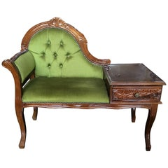 Victorian Green Window Seat Free Shipping