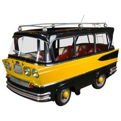 L' Autopède Belgian Metal Carousel Bus, 1950s