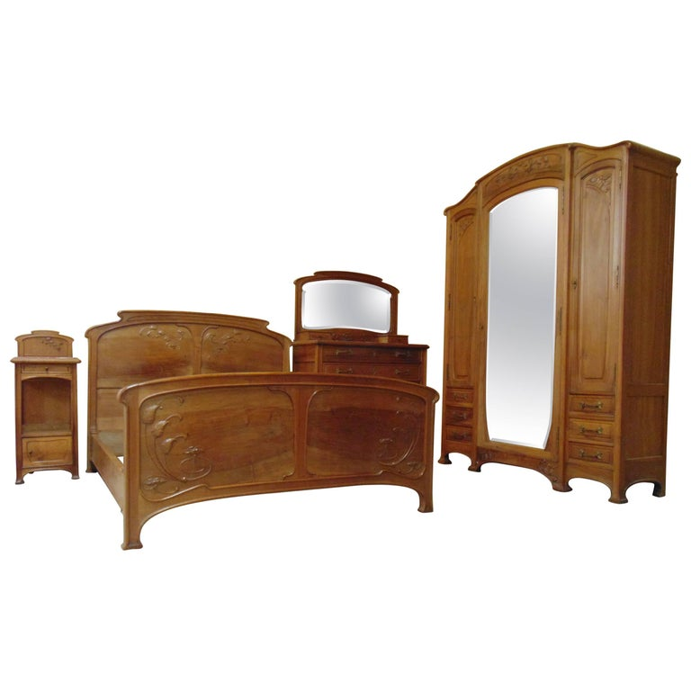 Art Nouveau Bedroom Suite, Circa 1900 For Sale At 1stdibs