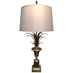 Maison Charles Style Chrome and Gold Pineapple Lamp