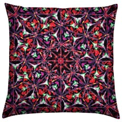 Bahia Print Lime Pebble Pillow by Lolita Lorenzo Home Collection
