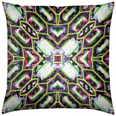 Palmares Print Lime Pebble Pillow by Lolita Lorenzo Home Collection