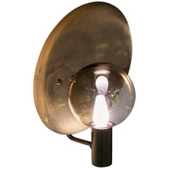 1960s, Large Swedish Wall Lamp by Hans-Agne Jakobsson in Brass and Glass