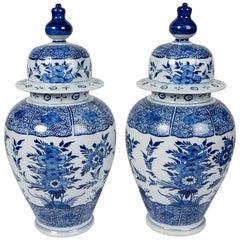 Blue and White Delft Ginger Jars