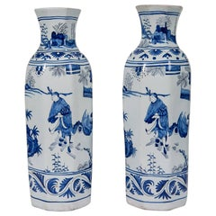 Blue and White Delft Vases Antique