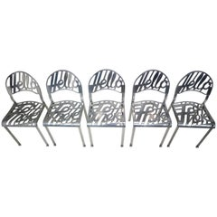 """Set of Five Jeremy Harvey """"Hello There"""" Chairs for Artifort"""