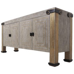 Mid-20th Century Maitland-Smith Tessellated Marble Sideboard